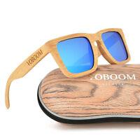 Luxus Herren Damen Bambus Holz Polarisiert Sonnenbrillen Beige Bambus Brillen