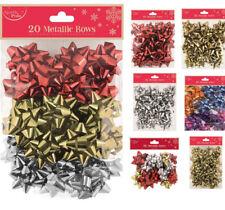 Christmas Bows Assorted Sizes Self Adhesive Gift Mini & Large Xmas Present Wrap