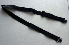 "Rifle Sling Belt with 2 pcs 1"" Swivels Black Braid Narrow Gun Sling Belt Hunting"