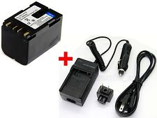 new BN-V416 Battery & Charger For JVC GR-D93US GR-D200 GR-D200U GR-D220 GR-D225