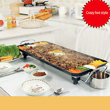 1500W Electric BBQ Grill/Teppanyaki/Tough Non-stick Hot Plate with Drip Tray