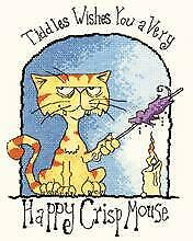 Heritage Crafts Counted Cross Stitch Kit - Tiddles - Happy Crispmouse