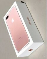 NEW Genuine Empty RETAIL Box For Apple iPhone 7 128GB Rose Gold - No Device