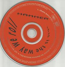 MC HAMMER This is the Way We Roll 4TRX w/ 2 MIXES & EDIT PROMO DJ CD single 1991