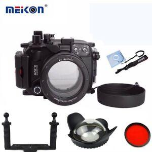 Meikon 40m Underwater Camera Housing for Canon G7X Mark II w/ Dome Port & Tray