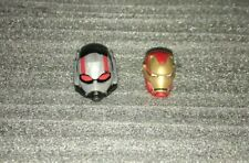 MARVEL LEGENDS IRON MAN AND ANT-MAN HEAD FROM HAWKEYE BLACK WIDOW ENDGAME 2-PACK
