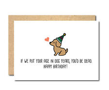 Funny Birthday Card Cat Dog Personalised female male boyfriend wife husband boss