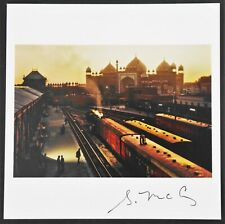 STEVE MCCURRY - SIGNED MAGNUM 6 X 6 ARCHIVAL PRINT AGRA TRAIN STATION INDIA