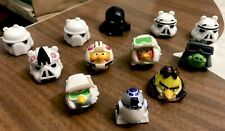 Star Wars Angry Bird Figures Lot Of 12 Includes R2d2
