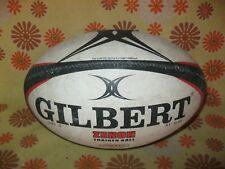 Ancien BALLON de RUGBY GILBERT ZENON TRAINER BALL TAILLE 5 HYDRATEC Supporter