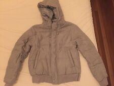 Brand New Women's Staple The Label Zip Hooded Jacket In Light Grey Size XS