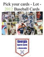 Pick your cards - Lot - 2012 Baseball cards (stars, rookies, parallels, inserts)