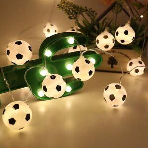 10 LED Football Fairy String Light Boys Battery Bedroom Decor Lights White Lamp