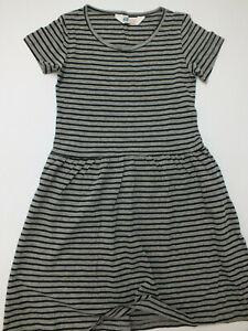 80% Rabatt!  NEU H+M Sommer Kleid Jerseykleid Skaterkleid schwarz grau 122 128