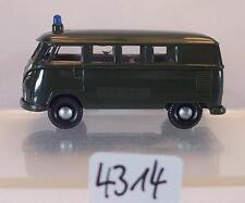 Brekina 1/87 Volkswagen Bulli VW T1b Bus Polizei grün #4314