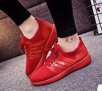 Women Flat Casual Round Toe Lace Up Fashion Sneakers Breathable Sports Shoes