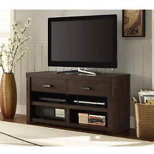 """Flat Screen TV Stand Modern Entertainment Center Wooden Media Console Table 42"""""""
