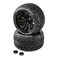 Duratrax SpeedTreads Speedhawk Tires Mounted (2) 1/10 Stadium/Monster Truck