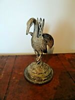 Antique Cast Spelter Figure of a Mythological Bird (Feather Detail Winged Beak)