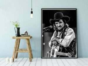 Waylon Jennings Poster, Waylon Jennings Poster print, Music Print Poster