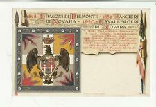 antica cartolina dragoni  piemonte lancieri di novara autentica originale 76697