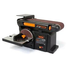 Small Belt 6-Inch Disc Sander Cast Iron Base Bench Table Mount Wood Sanding New