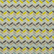 Clarke and Clarke Maya Chartreuse Chevron Design Curtain Upholstery Craft Fabric