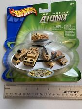Micro Hot wheels Atomix Desert Force Military Vehicles Jeep Helicopter Missile