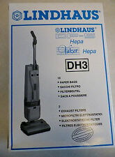 Genuine Lindhaus Valzer Dp-5 Hepa Dh3 Vacuum Cleaner Bag 10 Bags 2 Filters
