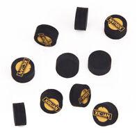 10X 14mm Biliardo Snooker Stecca Punte Cue Tips Nero 5 Strati 14 x 5mm