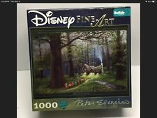 """Buffalo Disney Fine Art 1000 Pc Puzzle """"Snow White Off To Home We Go"""" Complete"""