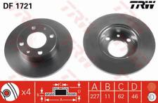 2 St. TRW Bremsscheibe für Bremsanlage DF1721