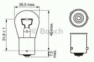 Genuine BOSCH PURE/LT PY21W 12V BAU15S TRADE PK - 1987302213
