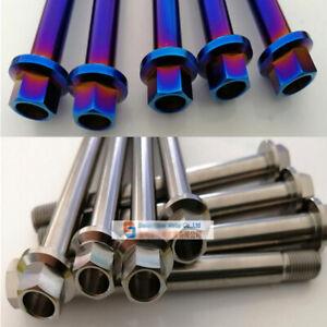 1pcs M10 x1.25x 108/130mm Titanium Flange Head Bolt Ti Screws