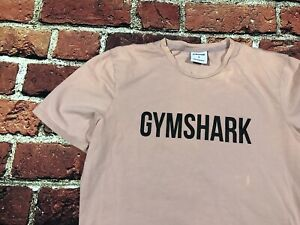 Bleach Stains* gymshark Mens Small Stretch Cotton T Shirt Pink Slim Muscle