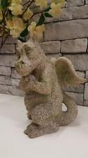 Stone Effect Dragon Outdoor Cute Gargoyle Gothic Statue Garden Figurine