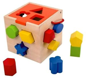 NEW Tooky Toy Shape Sorter Puzzle, Educational Toy for Baby, Toddler, Kids Gift