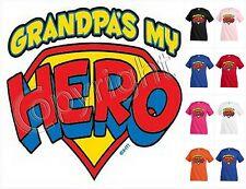 b7764251a GRANDPA`S MY HERO family T-shirt Kid's Children Unisex Girl Boy Funny KP211