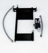 OilBud 00-17 Softail Oil Cooler With Black Powder Coated Adaptor (ABS)