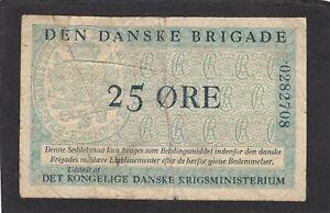 Denmark  25 Øre,1947-58 , P-M9 Den Danske Brigade, Military Issue VG+