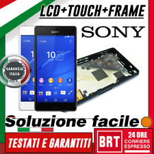 DISPLAY LCD+TOUCH SCREEN+FRAME ORIGINALE PER SONY XPERIA Z3 *COMPACT MINI* D5803