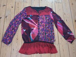 Desigual Tunika Bluse***XL***schwarz mit Blumen***