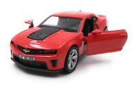 Chevrolet Model Car with Desired License Plate Camaro ZL1 Muscle Car Red 1:3 4