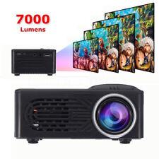 7000 Lumen Mini HD 1080P Full LED Projector Multimedia Home Theater Cinema AV 3D