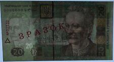 UKRAINE, SPECIMEN 20 hryvnia 2003 Kiev, Kyiv, Ivan Franko, aUNC - XF