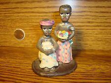 Vintage Black African American Resin Figurine Black Couple African Dress,Flowers