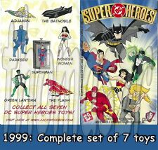 DC Super Heroes figure/toy set (all 7) - Jack in the Box JBX DC/WB (1999) *NIOP*