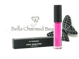 MAC Lipglass Lipgloss Candy Yum Yum - Neon Pink 0.10 fl. oz. Full Size 🦋 NIB