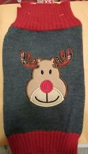 Reindeer Christmas KNIT DOG PUPPY JUMPER SWEATER x small Pets at Home