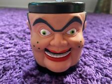 Goosebumps Slappy the Dummy Monster 3D Mug Cup Toy Plastic 1996 Vintage Rare